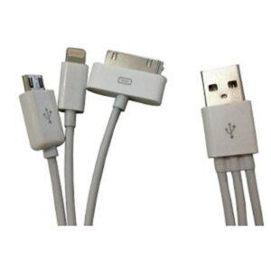Cabo USB 4in1 USB Micro Mini Apple e Apple 30 Pinos/Samsung
