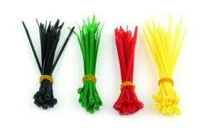 Abraçadeiras Conjunto 100 Plástico 2,5mm x 160mm Coloridas