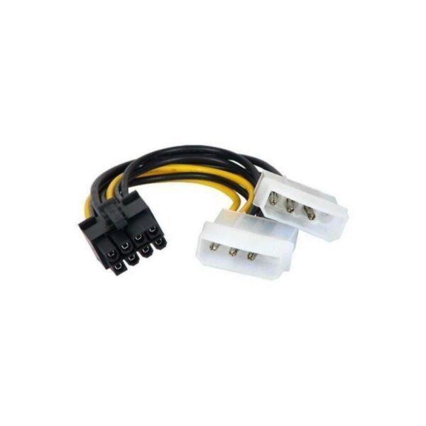 Adaptador Molex 4 x 2 Pinos para PCI-E 6 Pinos