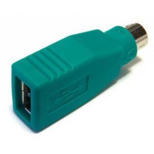 Adaptador USB Fêmea > Ps2 (Mini-DIN) Macho