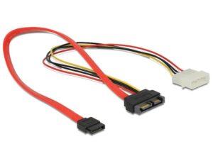Adaptador DELOCK Slim SATA 13p M P/Molex+SATA 7p - 84376