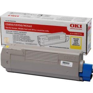 Toner OKI C5850/C5950/MC560 Amarelo - 43865721