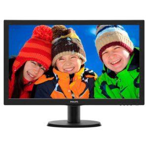 """Monitor PHILIPS 243V5LHSB 5ms TFT 23.6"""" (LED) FullHD Preto"""