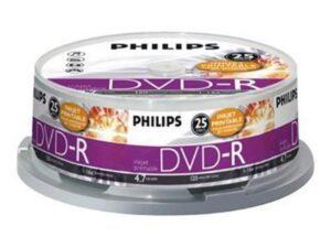 DVD-R PHILIPS 4.7GB 16X Pack 25 Unidades - DM4I6B25F