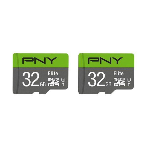 Cartão PNY Micro SD Elite 32GB UHS-I CL10 Pack 2