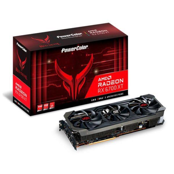Placa Gráfica POWERCOLOR RED DEVIL RX 6700 XT OC 12GB GDDR6