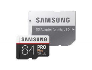 CARTÃO MEMÓRIA SAMSUNG Micro SD Card PRO Plus 64GB Classe10