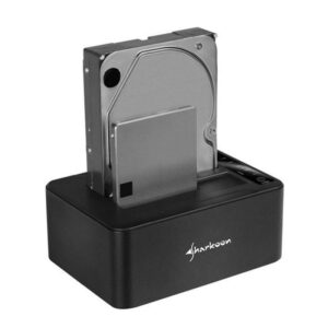Docking Station SHARKOON Quickport Duo Clone USB 3.1 Tipo-C