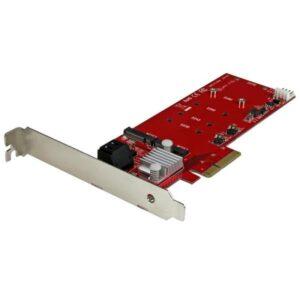 Adaptador STARTECH 2x M.2 NGFF SSD RAID Card 2x SATA PCI-E