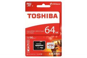 CARTÃO MEMÓRIA TOSHIBA Micro SD Card 64GB C/Adap Class10