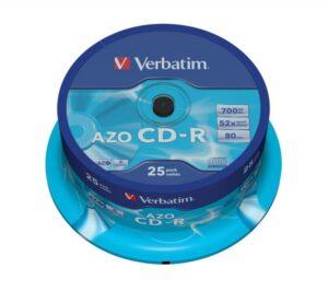 CDR VERBATIM AZO 700MB 52X Pack 25 Unidades