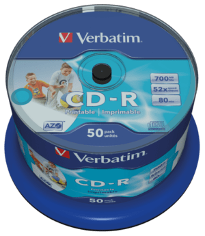 CDR VERBATIM 700MB 52X Printable Pack 50 Unidades