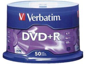DVD+R VERBATIM 4.7GB 16X Pack 50 Unidades