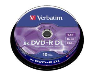 DVD+R VERBATIM Dual Layer 8.5GB 8X Pack 10 Unidades