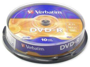 DVD-R VERBATIM 4.7GB 16X Pack 10 Unidades