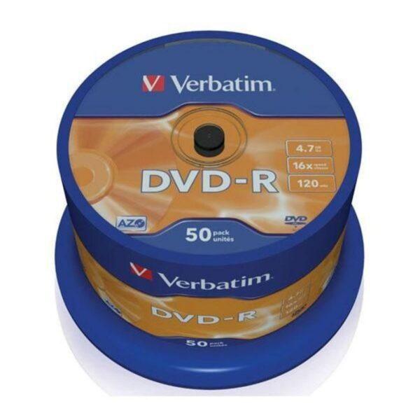 DVD-R VERBATIM 4.7GB 16X Pack 50 Unidades