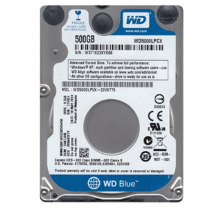 Disco WESTERN DIGITAL Blue 500GB SATA 16MB 2.5 5400 RPM